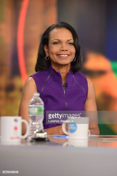 THE VIEW Guest cohost Condoleezza Rice and guest Representative Adam Schiff appeared today Thursday March 1 2018 on Walt Disney Television via Getty...