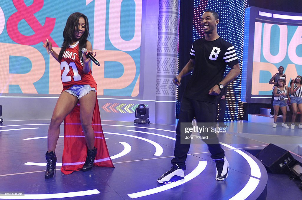 "Seven And Ray J Visit BET's ""106 & Park"""