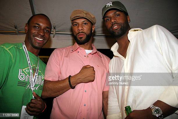 Guest Common and AJ Calloway during Power Summit Present Interscope Party at Tranquility in Freeport Bahamas
