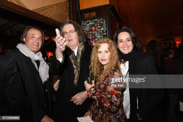 Guest, composer Pascal Dusapin, his wife actress Florence Darel and Stephanie Janicot attend 'La Closerie Des Lilas' Literary Awards 2016 At La...