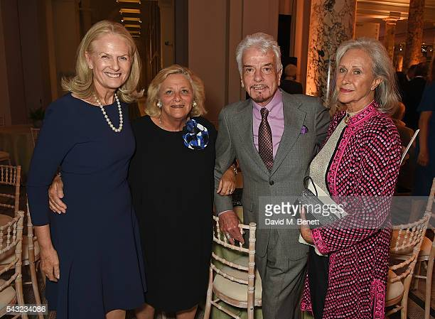 Guest Dame Vivien Duffield Nicky Haslam and Aldine Honey attend a celebration of the Life of Lord George Weidenfeld on June 26 2016 in London England