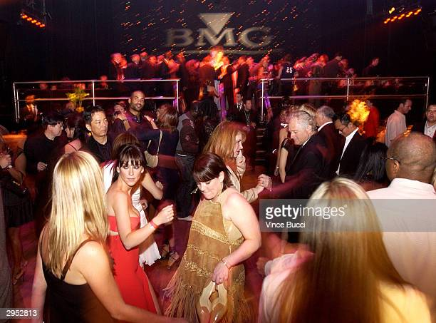 Guest dance at the BMG Party following the 46th Annual Grammy Awards at the Avalon in Hollywood California