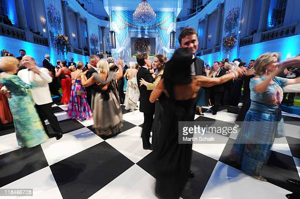 Guest dance during the 2nd Fete Imperial as a benefit event for the famous Spanish Riding School at imperial Vienna Hofburg Palace on July 7 2011 in...