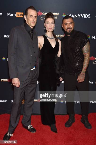 Guest Deven Green and Boomer Banks attends Gay Porn's Biggest Night Str8UpGayPorn Awards Hosted By Kathy Griffin at Avalon Theater on January 12 2020...