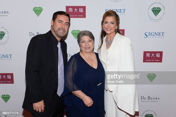 A guest Diamond Empowerment Fund Board of Director President Gemological Institute of America Anna Martin and model Kathy Ireland arrive at the...