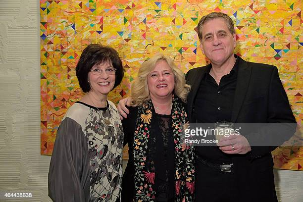 Guest Diane Fisher and Jack Fisher attend FilmRise Celebrates new office in Industry Brooklyn at FilmRise on February 25 2015 in Brooklyn New York