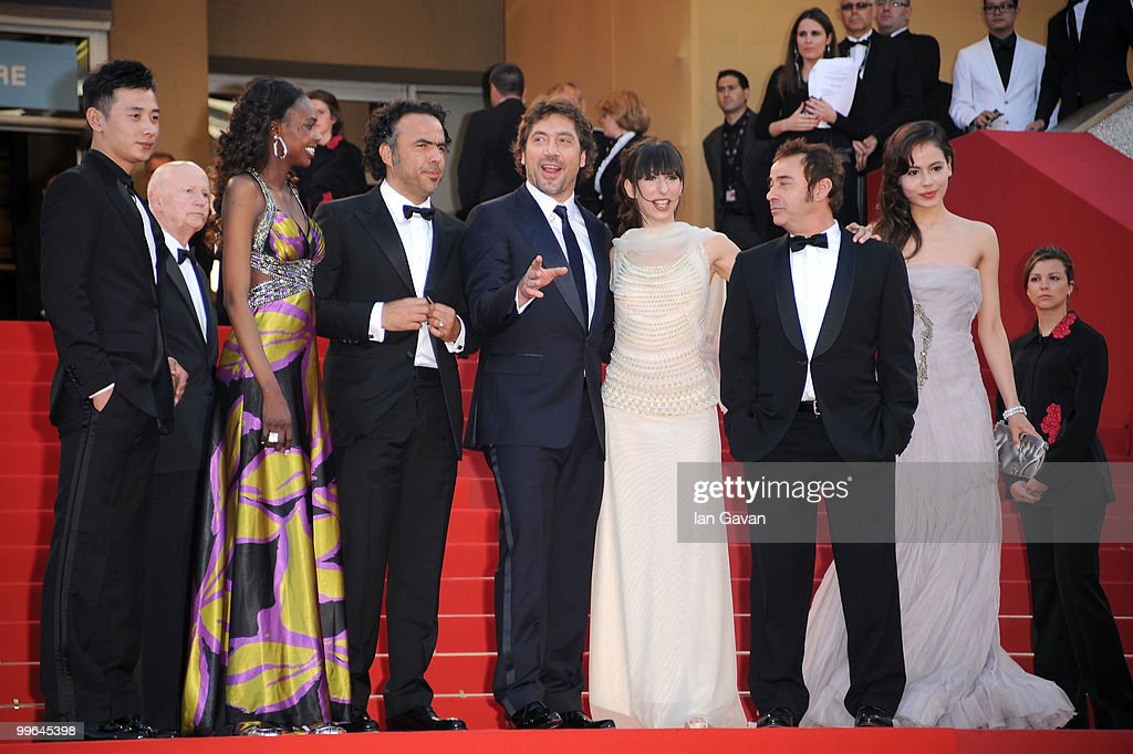 Guest, Diaryatou Daff, Director Alenjandro Gonzalez Inarritu, Actor Javier Bardem, actress Maricel Alvarez, Eduardo Fernandez and Martina Garcia attend 'Biutiful' Premiere at the Palais des Festivals during the 63rd Annual Cannes Film Festival on May 17, 2010 in Cannes, France.