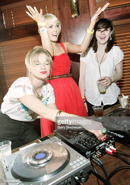 Guest DJs Rebecca Stephens Gwenno Saunders and Rose Elinor Dougall of The Pipettes