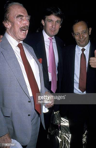Guest Donald Trump and Al D'amato during Mike Tyson vs Carl Williams July 21 1989 at Trump Plaza in Atlantic City New Jersey United States