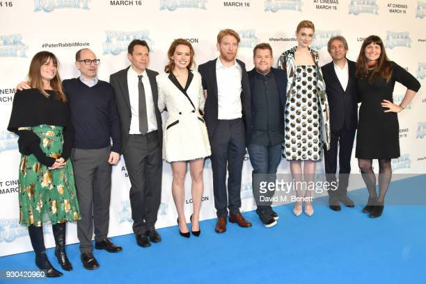 guest Doug Belgrad Will Gluck Daisy Ridley Domhnall Gleeson James Corden Elizabeth Debicki Zareh Nalbandian and Jodi Hildebrand attend the UK Gala...