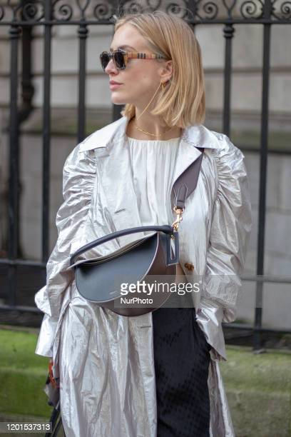 A guest during London Fashion Week AW 2020 17 February 2020 in London England