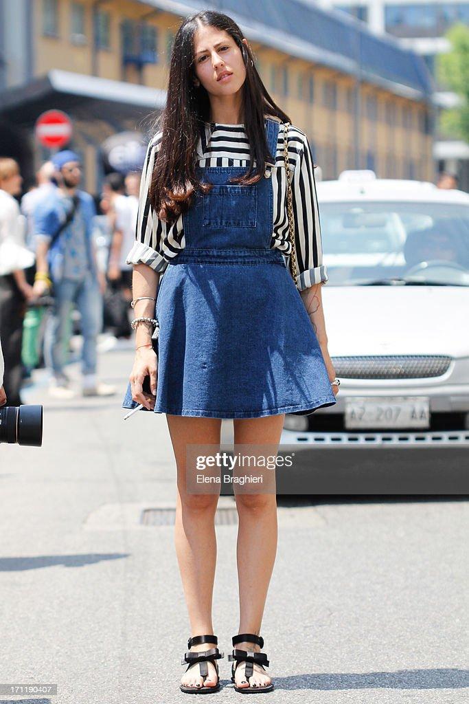 Guest during Milan Fashion Week Menswear Spring/Summer 2014 on June 22, 2013 in Milan, Italy.