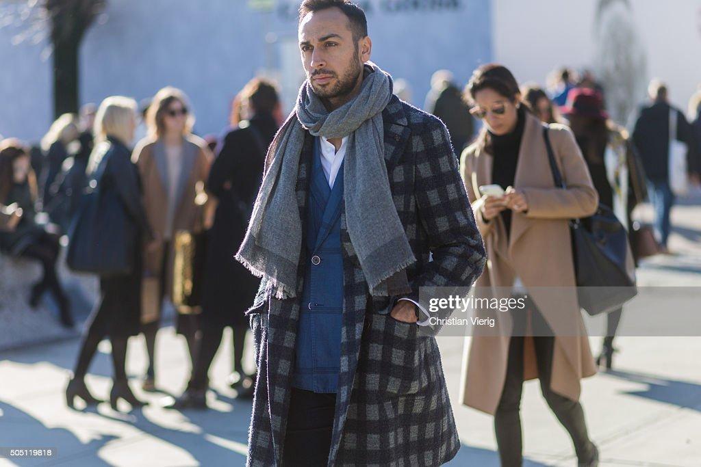 Street Style - Pitti Uomo 89 : Day Four : News Photo