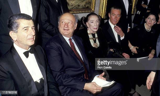 guest Ed Koch Martha Graham and Halston during Benefit Auction February 23 1987 at Christie's in New York City New York United States