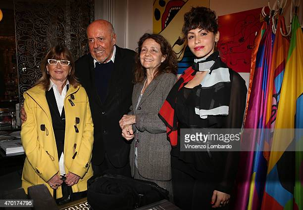 Guest Elio Fiorucci Milly Moratti and Lia Bosch attend the Art Therapy By Elio Fiorucci Milan Fashion Week Womenswear Autumn/Winter 2014 on February...