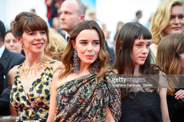 Guest Elodie Bouchez and Astrid BergesFrisbey attend the screening of The Wild Pear Tree during the 71st annual Cannes Film Festival at Palais des...