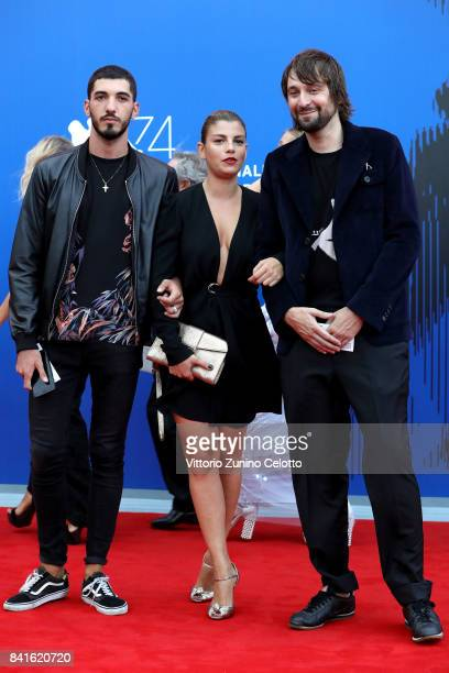 A guest Emma Marrone and Francesco Vezzoli attend the Franca Sozzani Award during the 74th Venice Film Festival on September 1 2017 in Venice Italy