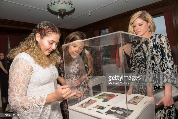 Guest Emmy Rossum and Kate Bolduan attend the Free Arts NYC 18th Annual Art Auction at 2 East 79th Street on April 26 2017 in New York City