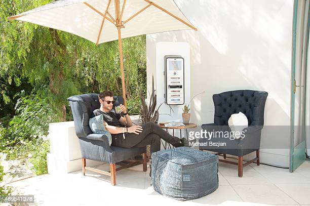 Guest enjoys BMWi recharge room at Soho Desert House on April 12, 2015 in La Quinta, California.