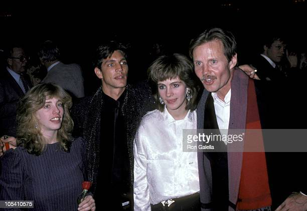 Guest Eric Roberts Julia Roberts and Jon Voight during Premiere of 'Runaway Train' and 'Fool For Love' at Plaza Hotel in New York City New York...