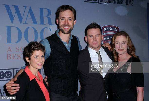 Guest executive producer Reid Carolin producer/actor Channing Tatum and director Deborah Scranton attend HBO and Army Ranger Lead The Way Fund...