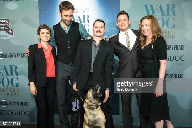 Guest Executive Producer Reid Carolin Trnt McDonald Layka Executive Producer Channing Tatum and Director Deborah Scranton attend the HBO And Army...