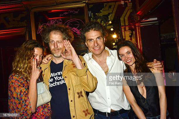 Guest, Fabrice de Rohan Chabot, Jean Pierre Marois and Juliette Longuet attend the 'Bains Douches Embellishing Party' At Les Bains Douches Club In...