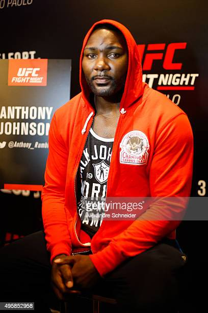 Guest fighter Anthony Johnson poses for a photo during the Ultimate Media Day at Hilton Hotel for the UFC Fight Night Sao Paulo on November 05 2015...