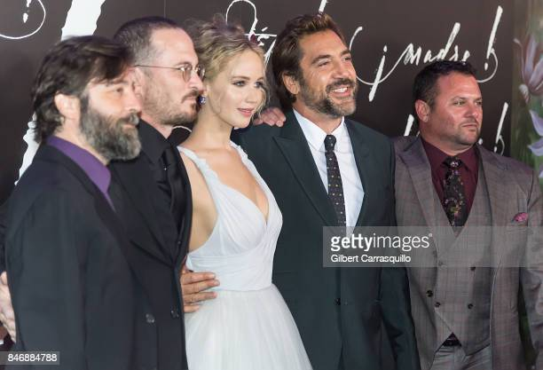 Guest Filmmaker Darren Aronofsky actress Jennifer Lawrence actor Javier Bardem and guest attend 'mother' New York Premiere at Radio City Music Hall...