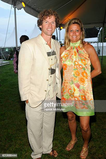 Guest Fitzgerald and Jennifer Faga attend BEST BUDDIES HAMPTONS BASH at Watermill on August 14 2008