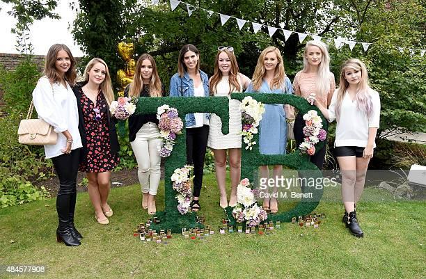 Guest Fleur Bell Suzie Bonaldi Lily Pebbles Tanya Burr Niomi Smart Victoria Magrath and Katie Snooks attend the Tanya Burr Cosmetics New Beauty...