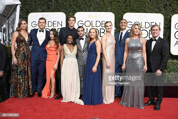 Guest football player Colton Underwood gymnast Aly Raisman swimmer Conor Dwyer gymnast Simone Biles gymnast Danell J Leyva gymnast Madison Kocian...