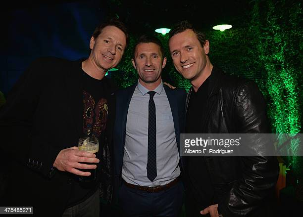 Guest Football Player Robbie Keane and actor Jason O'Mara attend the 9th Annual 'Oscar Wilde Honoring The Irish In Film' PreAcademy Awards event at...