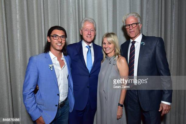 Guest Former US President Bill Clinton Kelly Hallman and Ted Danson attend the Oceana New York Gala at Blue Hill at Stone Barns on September 13 2017...