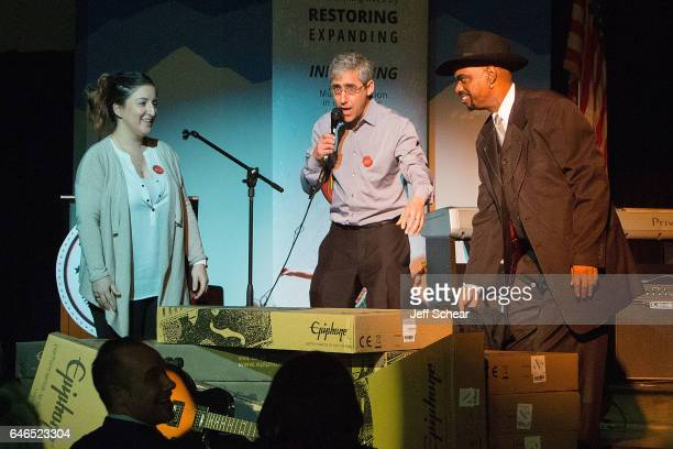 Guest Founder of Kids Rock David Wish and Nick Colionne unveil instruments at Chicago Public School Announces Music Program Expansion With Little...