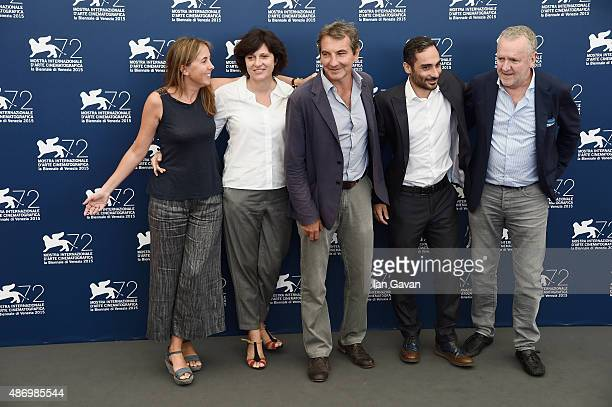 Guest Francesca Cima Nicola Giuliano Piero Messina and Giorgio Colangeli attend a photocall for 'The Wait' during the 72nd Venice Film Festival at...