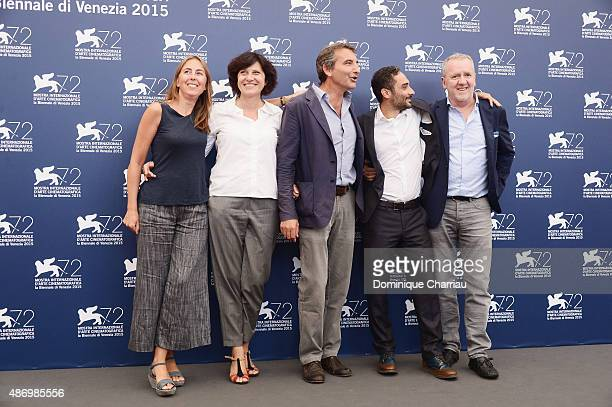 Guest Francesca Cima Nicola Giuliano Piero Messina and Giorgio Colangeli attend a photocall for 'The Wait' during the 72nd Venice Film Festival at...
