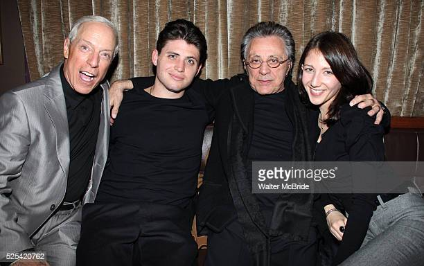 Guest Francesco Valli Frankie Valli Girlfriend during the Jersey Boys Party Celebrating Five Years On Broadway at the Rooftop at the Empire Hotel in...