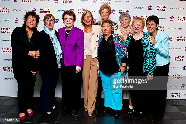 Guest Francoise Durr Billie Jean King Ingrid LofdahlBentzer Betty Stove Judy Dalton and Ilana Kloss attends the UK Premiere of 'Battle of the Sexes'...
