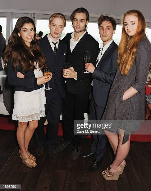 Guest Freddie Fox Douglas Booth guest and Sophie Turner attend at the Audi Royal Polo Challenge 2013 at Chester Racecourse on May 29 2013 in Chester...