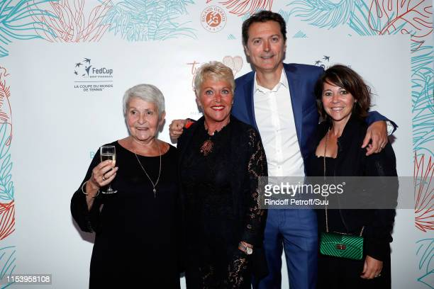 """Guest, Frederique Bahrami, Eric Winogradsky and his wife attend the """"Legends Of Tennis"""" Dinner as part of 2019 French Tennis Open at on June 05, 2019..."""