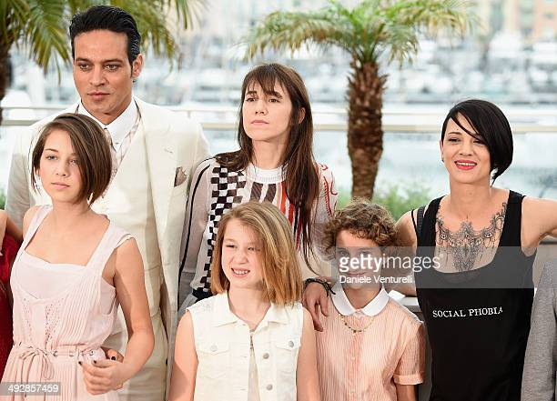 Guest Gabriel Garko Charlotte Gainsbourg Alice Pea Giulia Salerno Director Asia Argento and Andrea Pittorino attends the Incompresa photocall during...