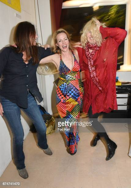 A guest Gabrielle Lazure and Christine BergstromÊLeibowitch attend Gabrielle Lazure 'Sixteen' Birthday Party at Galerie 18 Bis on April 28 2017 in...