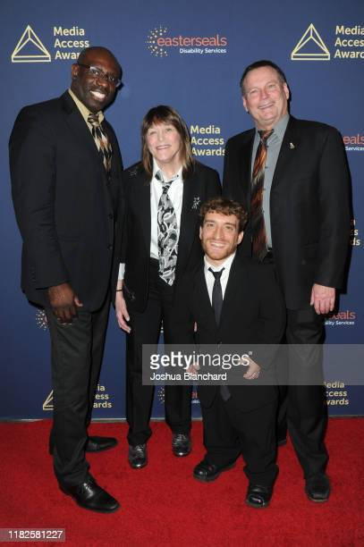 Guest Geri Jewell Nic Novicki and Mark Whitley attend the 40th Annual Media Access Awards In Partnership With Easterseals at The Beverly Hilton Hotel...