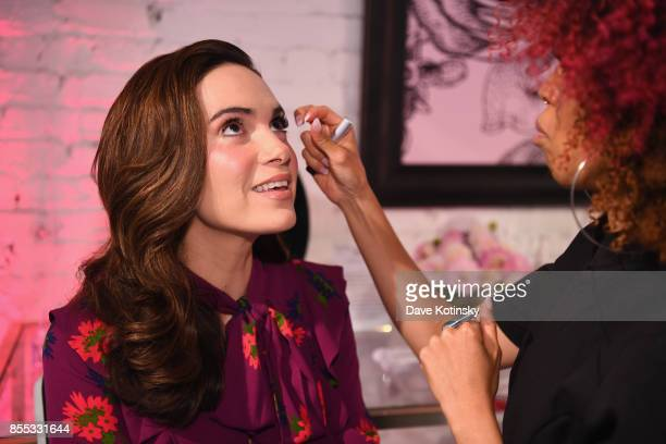 A guest gets their lashes done during Beauty Bar By KISS on September 28 2017 in New York City