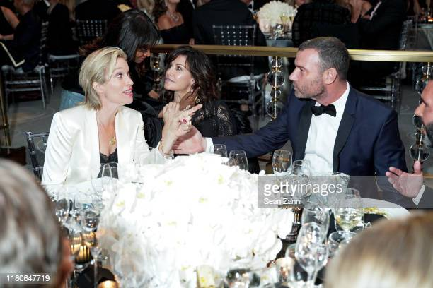 Guest Gina Gershon and Liev Schreiber attend Kristy Hinze Clark 40th Birthday Celebration at The Rainbow Room on October 11 2019 in New York City