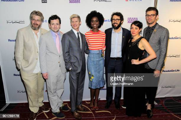 Guest Guest Lucas Steele Denee Benton Josh Groban Guest and Guest attend 83rd Annual Drama League Awards at Marriott Marquis on May 19 2017 in New...