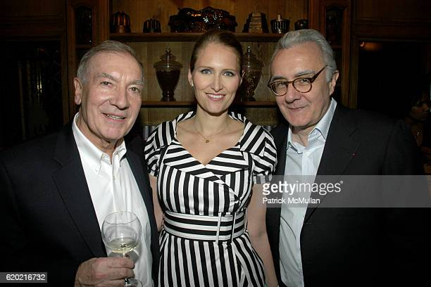 Guest Gwenaelle Gueguen and Alain Ducasse attend Benoit Opening Party Hosted by Pamela Fiori and Alain Ducasse at Benoit Restaurant on April 30 2008...