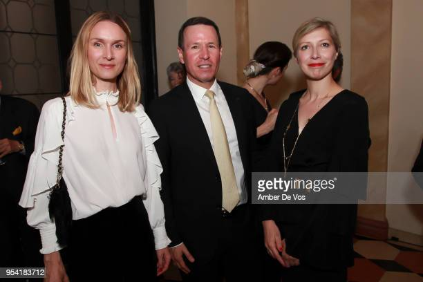 Guest Hal Witt and AnneClaire Legendre attend the Launch of the Paris Opera 350th Anniversary in New York with the American Friends of the Paris...