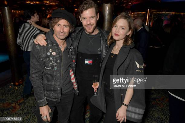 Guest Harry Treadaway and Holiday Grainger attend the TOMMYNOW after party at Annabels on February 16 2020 in London England
